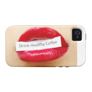 Red lipstick drink healthy coffee iPhone 4/4S cases