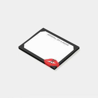 Red Lipstick Kiss Monogram Secret Sticky Post-it® Notes