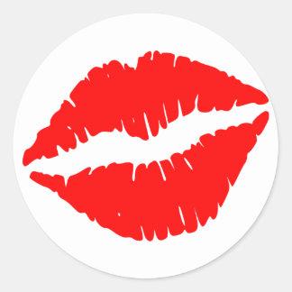 Red Lipstick Kiss Sticker