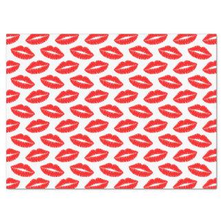 """Red Lipstick Kiss Tissue Paper 17"""" X 23"""" Tissue Paper"""