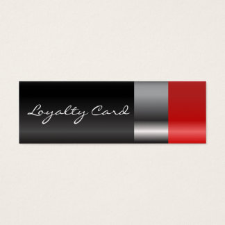 Red lipstick Loyalty Card