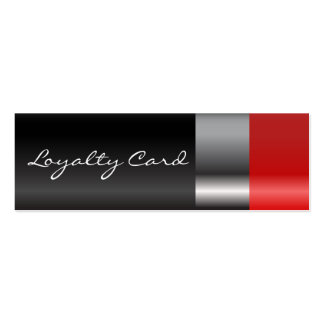 Red lipstick Loyalty Card Pack Of Skinny Business Cards