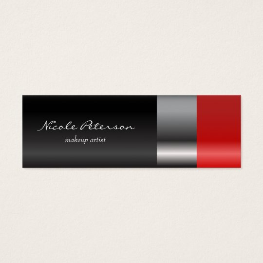 Red lipstick Makeup Appointment Reminder Mini Business Card