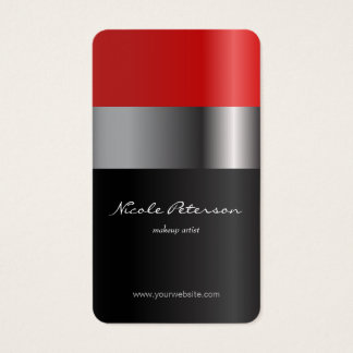 Red lipstick - makeup artist business card