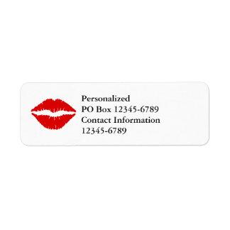 Red Lipstick Return Address Label