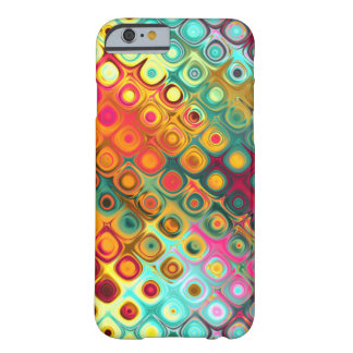 Red Liquid Rainbow Dots Abstract Pattern Barely There iPhone 6 Case