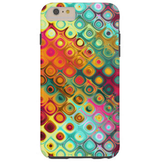 Red Liquid Rainbow Dots Abstract Pattern Tough iPhone 6 Plus Case
