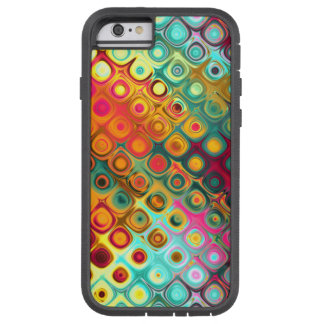 Red Liquid Rainbow Dots Abstract Pattern Tough Xtreme iPhone 6 Case