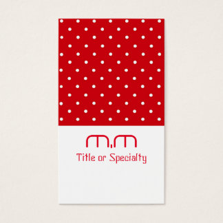 Red little balls modern business card