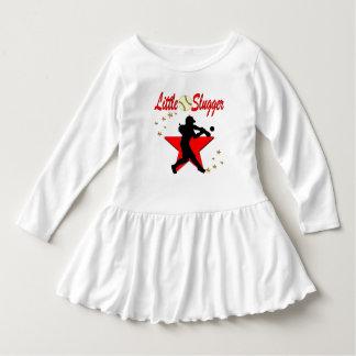 RED LITTLE SLUGGER SOFTBALL GIRL DESIGN DRESS