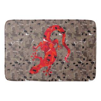 Red Lizard Collage Bath Mats