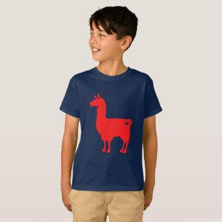 Red Llama Kids T-Shirt