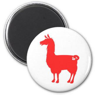 Red Llama Magnet