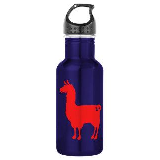 Red Llama Water Bottle