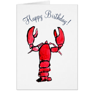 Red Lobster Card Template