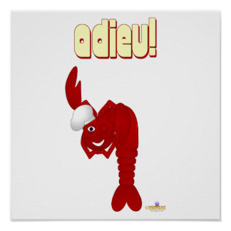 Red Lobster Chef Adieu Poster