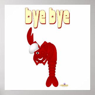 Red Lobster Chef Bye Bye Print