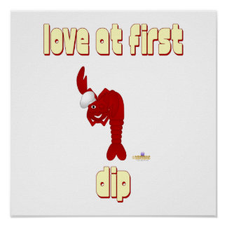 Red Lobster Chef Love At First Dip Poster
