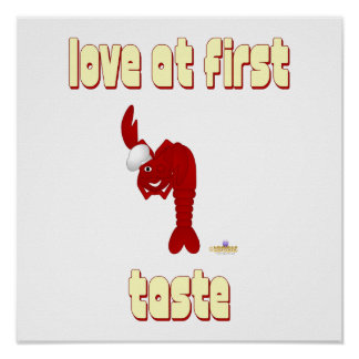 Red Lobster Chef Love At First Taste Print