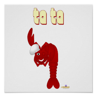Red Lobster Chef Ta Ta Poster