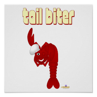 Red Lobster Chef Tail Biter Poster