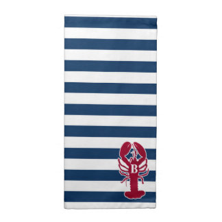Red Lobster Cloth Napkins, blue and white Stripes