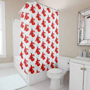 Red Lobster Design Shower Curtain