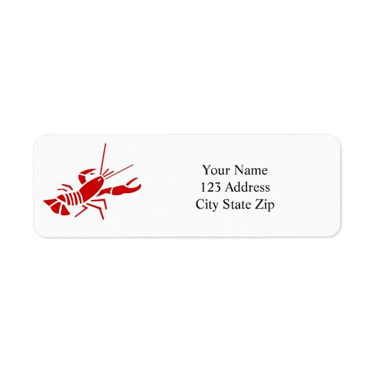 Red lobster return address labels