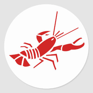 Red lobster stickers | Sealife theme