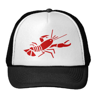 Red lobster trucker hat