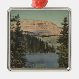 Red Lodge, MT - View of Beartooth Lake & Butte Christmas Ornament