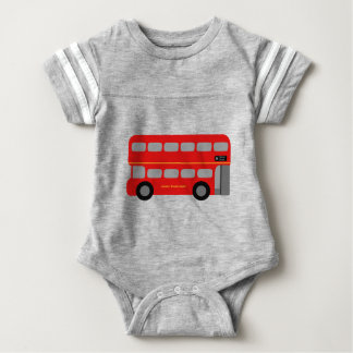 Red London Bus Baby Bodysuit