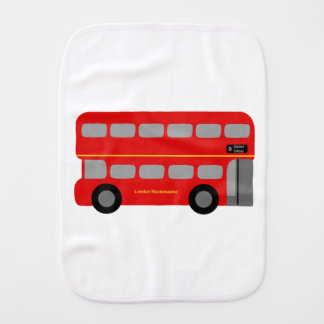 Red London Bus Baby Burp Cloths