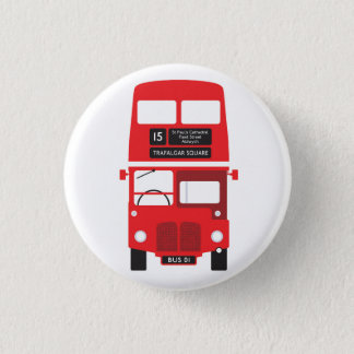 Red London Bus Badge