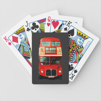Red London Bus Bicycle Playing Cards