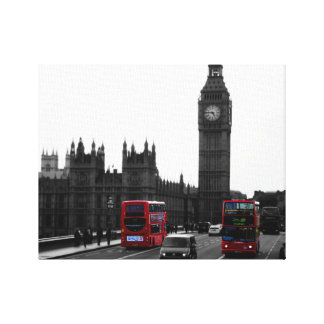 Red London Bus & Big Ben, United Kingdom Canvas Print
