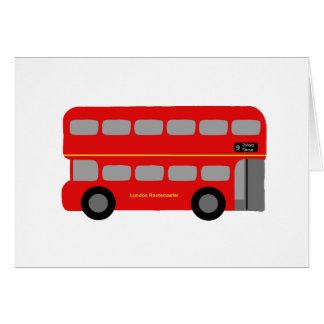 Red London Bus Card