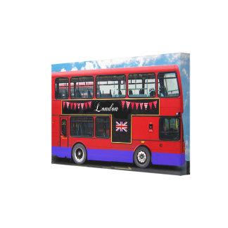 Red London Bus Double Decker Canvas Prints