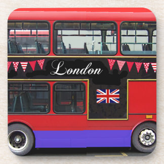 Red London Bus Double Decker Coaster