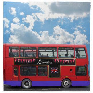 Red London Bus Double Decker Napkin