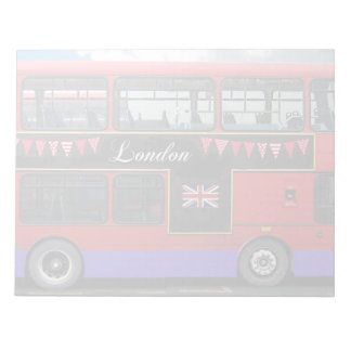 Red London Bus Double Decker Notepad