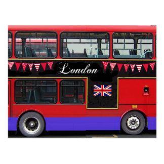 Red London Bus Double Decker Postcard