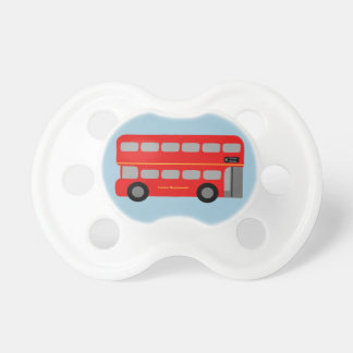 Red London Bus Pacifier