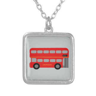 Red London Bus Silver Plated Necklace
