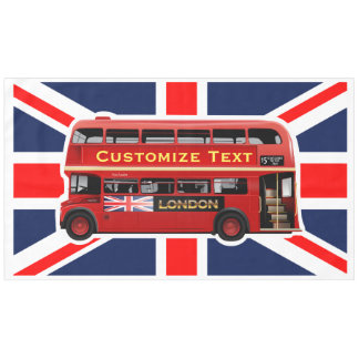 Red London Bus Tablecloth