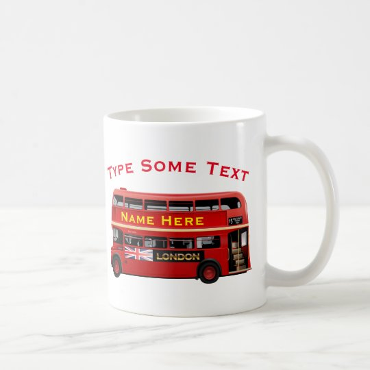 Red London Bus Themed Coffee Mug