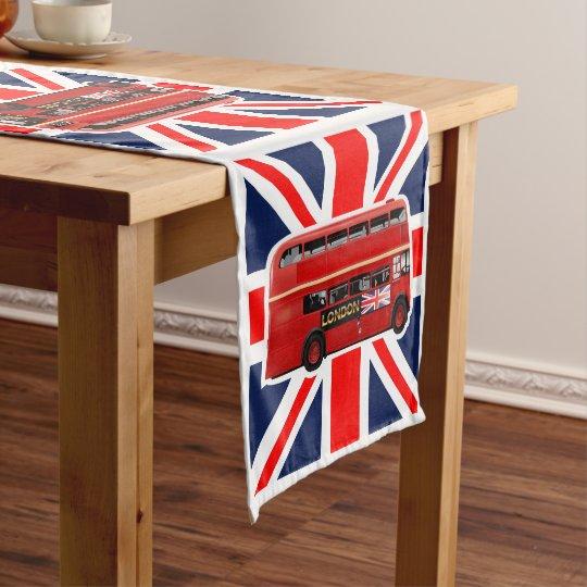 Red London Bus Themed Short Table Runner