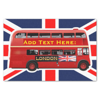 Red London Bus Themed Tissue Paper