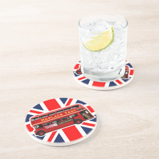 Red London Double Decker Bus Coasters