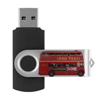 Red London Double Decker Bus USB Flash Drive